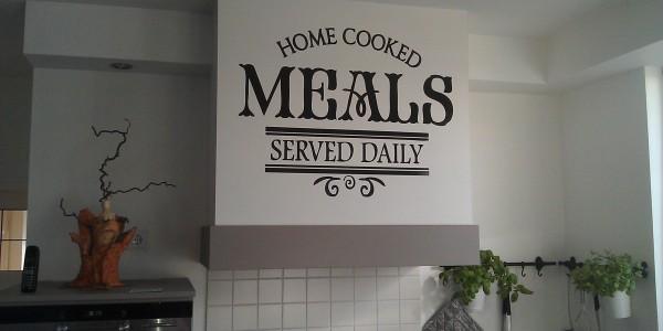 Creatieve keuken decoratie